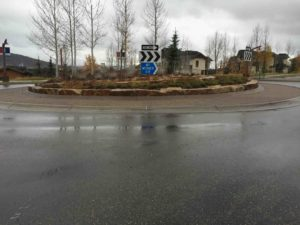 Steamboat Central Ave roundabout